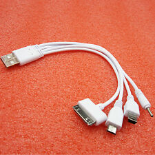 New 4 in 1 Car USB 2.0 Sync DATA Charger Cable for iphone Samsung S4 htc&Nokia