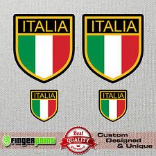 ITALY decal vinyl sticker italia antique retro car vespa lambretta shield flag