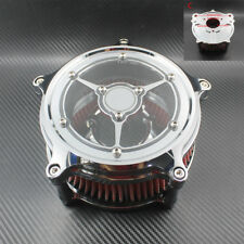 See Though Chrome Air Filter Cleaner Intake For Harley Road King Gliding 08-15
