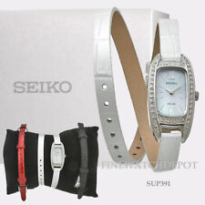Authentic Seiko Core Ladies Wrap-around Leather Bracelet Watch SUP391