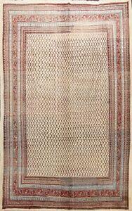 Vintage Traditional Paisley Handmade Area Rug Ivory Wool Oriental Carpet 8'x10'