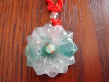 Chinese Jade Flower Necklace