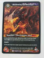 World of Warcraft WoW TCG - Deathwing the Destroyer Card - 21/220 Twilight LP