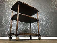 Stunning Vintage Ercol Tea Trolley - Retro Elm Drinks Cocktail Cart Bookshelf