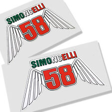 MARCO SIMONCELLI 58  MOTO GP `WING` stickers motorcycle decals graphics x 2