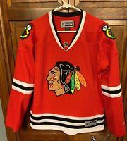 Reebok Chicago Blackhawks NHL Hockey Jersey Red Women L $110