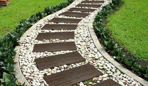 Garden Stepping Stones Recycled Rubber Railroad Tie Primeur Non-toxic Non-slip