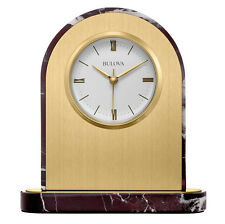 Bulova Desire analógico latón pulido y pulido Mármol Reloj de sobremesa b5012