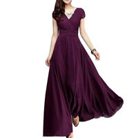Women Long Blouosn Formal Party Cocktail Prom Evening Ball Gown Wedding Dress