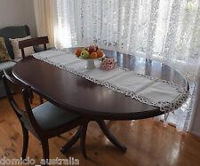 Handmade Batten Lace Cotton Table Runner Topper Rectangle 42x178 CM White