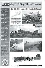 Aviaeology Decals 1/24 HAWKER TYPHOON (RCAF) 143 WING 1944 to Bodenplatte Part 2