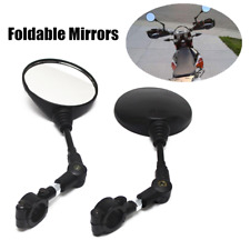 1Pair Motorcycle ATV Bike Side Mirrors w/ Mounting Clamp Screw Fit For Honda BMW