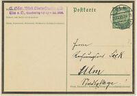 DT.REICH 1934 Sonderpostkarte zum Tode des Reichspräsidenten von Hindenburg 6 Pf