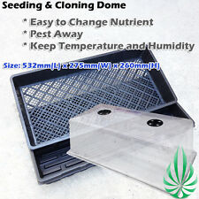 Seeding Cloning Mesh Tray Dome Kit Hydroponics Soiless Rockwool Clay Propagation