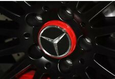 NOUVEAU MERCEDES AMG ALLOY WHEEL HUB Centre Caps-Rouge/Noir 75 mm A B C E S ML classe
