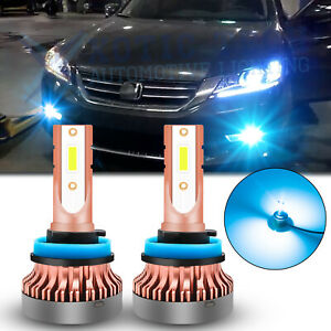 For Honda Accord 06-2015 Super Bright Ice Blue 8000k LED Fog Driving Light Bulbs