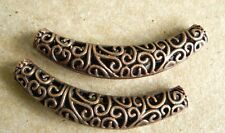 COPPER FOCAL BEADS Filigree Antique Finish 2-TOTAL Large hole bead