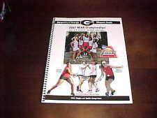 2007 Georgia Bulldogs NCAA Championship Tennis Media Guide