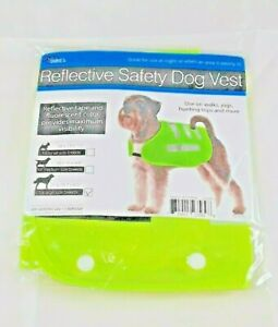 Reflective Tape Safety Dog Vest Large Fluorescent Yellow Color Safe Walks Dukes