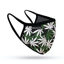 2 PACK Gorilla Mask Co. Weed Print 420 Face Mask 100% Cotton