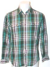 Eddie Bauer Mens Plaid Flannel Cotton Button Up Long Sleeve Fishing Shirt Sz S