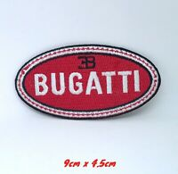 Bugatti MotorSports Car logo Iron on Sew on Embroidered Patch #1404