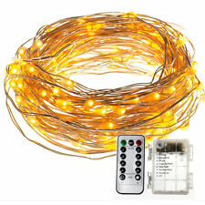 10M 100 LED 8 Modes Copper Wire String Fairy Xmas Lights Battery Powered +Remote