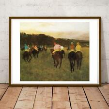 28x22 Inch Edgar Degas 71 Race Horses At Longchamp Art Print