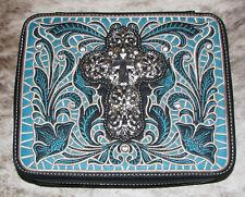 MONTANA WEST Bible Cover Spiritual Collection DC009-OT Black~Silver Metal Cross