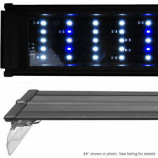 Used Da 180 Marine 72 Led White Blue Aquarium Fish Tank Light w/ Rise Dim Timer