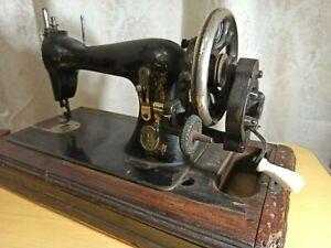 Antique sewing machine Trade Marke. 1900s. Working