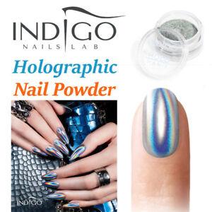 Indigo HOLOGRAPHIC Holo MANIX Effect Nail Powder Unicorn Rainbow Mermaid