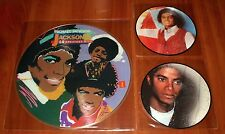"MICHAEL JACKSON 3x PICTURE DISC VINYL Lot HAPPY 7"" YOU CANT WIN 7"" & GREATEST LP"