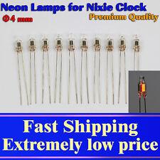 50pcs Neon Lamp φ4x10mm Orange for Nixie Clocks. Glow Voltage AC65V DC90V