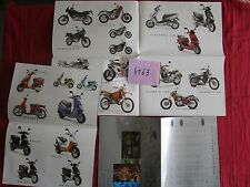 N°4163  / APRILIA dépliant poster  en français tout modéle 1996