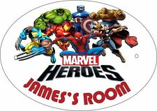 MARVEL HEROES #1 PERSONALISED DOOR PLAQUE