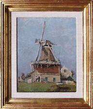 Franciscus J.A. Vos 1847 Amsterdam -1921 Haarlem: Windmühle, Öl,+ Dokumentation