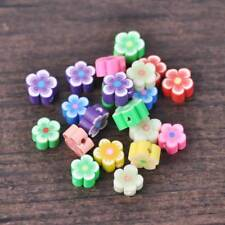 Wholesale 100pcs/bag Mixed Colors Fimo Polymer Clay Flower Beads DIY Jewelry