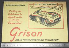 BUVARD 1950 GRISON ENTRETIEN CHAUSSURES AUTOMOBILE AUTO D.B. PANHARD