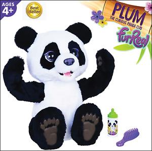 Hasbro E85935S1 FurReal Friends- Plum The Curious Panda Bear- Black & White Pet