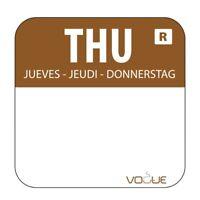 Vogue Removable Colour Coded Food Labels Thursday (Set of 1000) [L934]