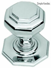 Polished Chrome Octagonal Centre Pull Door Knob / Handle