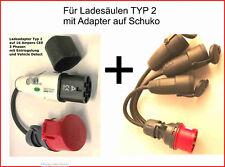 EV Ladekabel Typ 2 auf CEE 16 A , 3 Phasen mit CEE Adapter zum Laden v. 3 Fahrz.