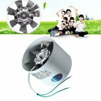 4'' Inline Duct Ventilator Booster Kitchen Extractor Exhaust Fan Air Blower 220V