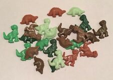 24 EDIBLE SUGARPASTE ICING GREEN BROWN DINOSAURS BOYS GIRL BIRTHDAY CAKE TOPPERS