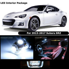 6PCS Cool White Interior LED Bulbs Package Kit For 2013 - 2017 Subaru BRZ