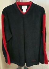 VTG Roots Athletics Canada Navy Blue Red Pullover Fleece Sweater Sweatshirt XL