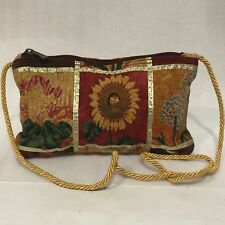 Sun N Sand Paul Brent Messenger SHOULDER Bag Purse FLORALTapestry 7.5 X11x19