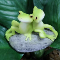 Resin Miniature Fairy Garden Micro Landscape Home Figure Decor Sitting Frog
