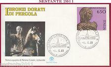 ITALIA FDC FILAGRANO 1988 I BRONZI DORATI DI PERGOLA NERONE ANNULLO TORINO Z15
